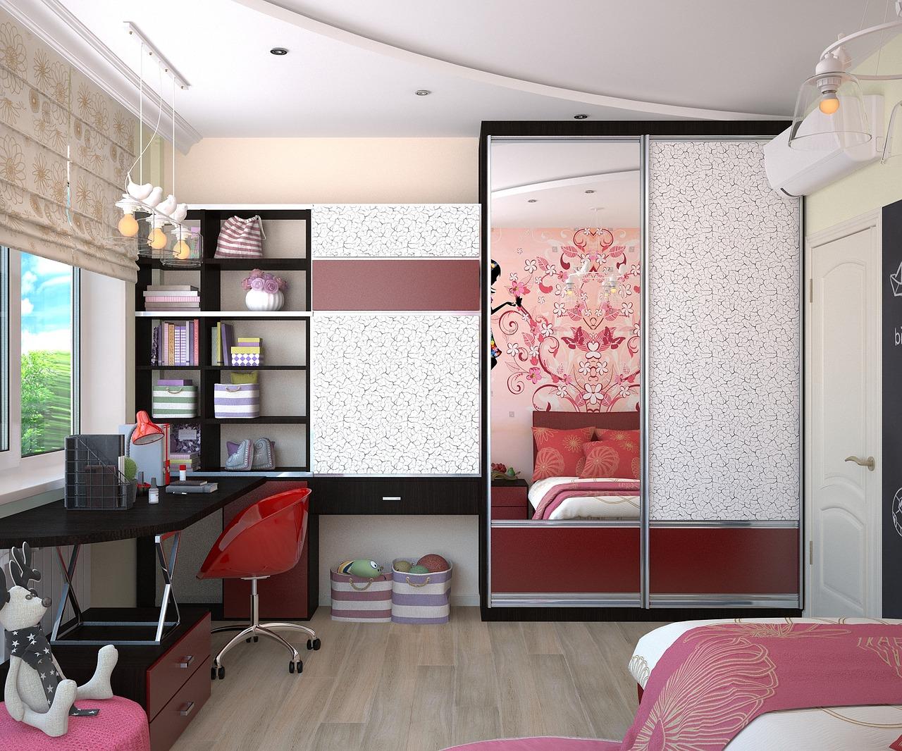 Chambre d'enfant moderne, une petite touche pour un style industriel